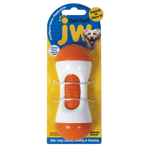 JW Pet Toys Squeaky Barbells