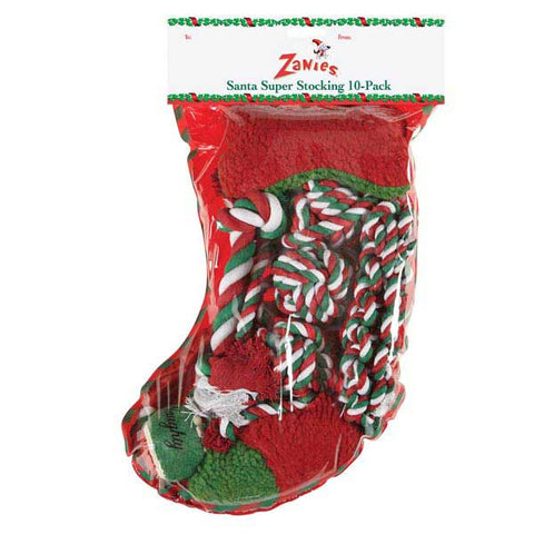 Zanies Santas Super Stocking 10PK