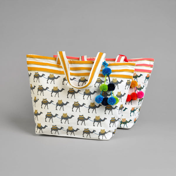 CAMEL BEACH BAG