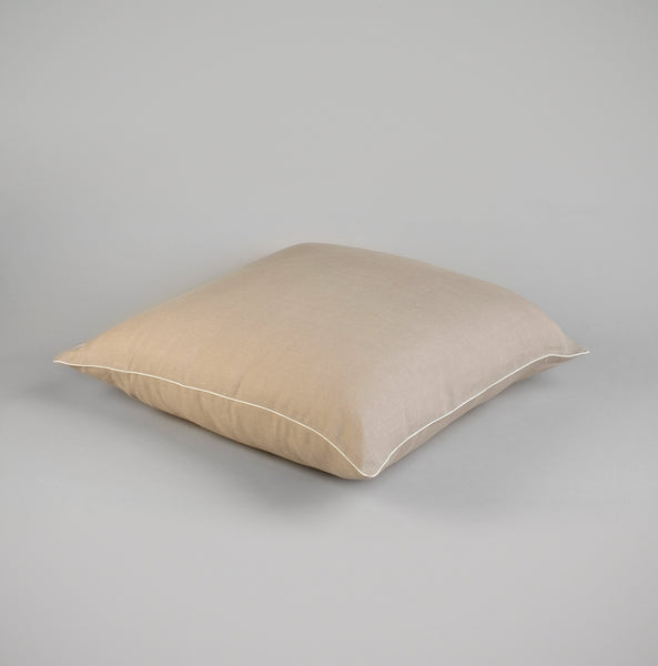 COTTON-PIPED LINEN CUSHION COVER (SET OF TWO)