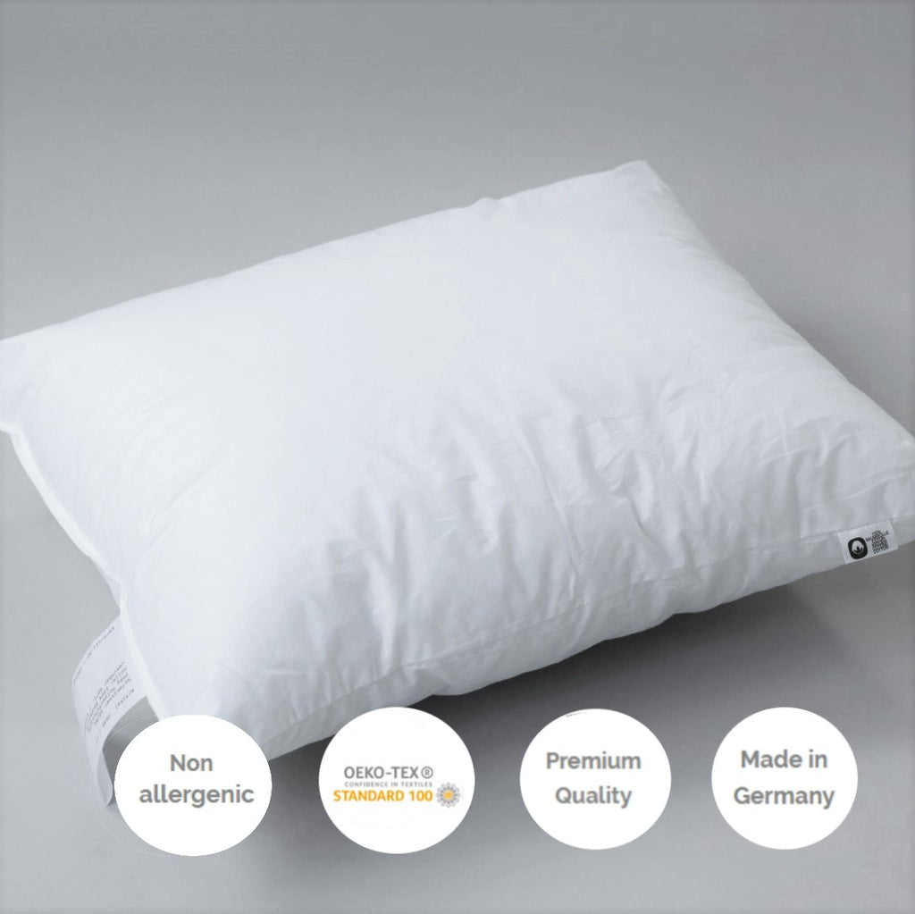 NON ALLERGENIC CUSHION PAD FOR COTTON PIPED LINEN CUSHION COVER