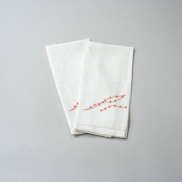 SEAWEED LINEN GUEST TOWEL (Set of two)