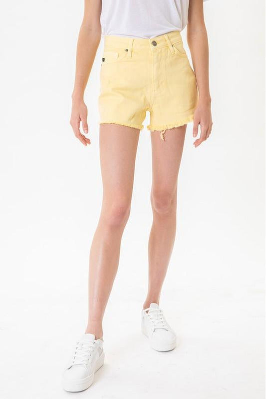 My Sunshine Denim Shorts Yellow