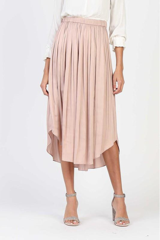 Social Club Nude A-Line Skirt