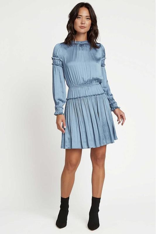 Rain on Me Blue Mini Dress