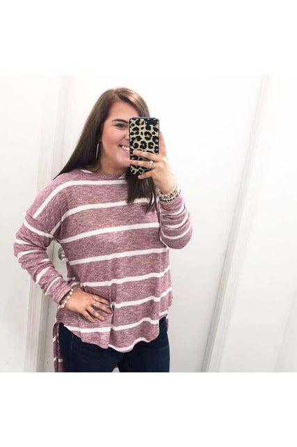 Slouchy Style Top Stripe