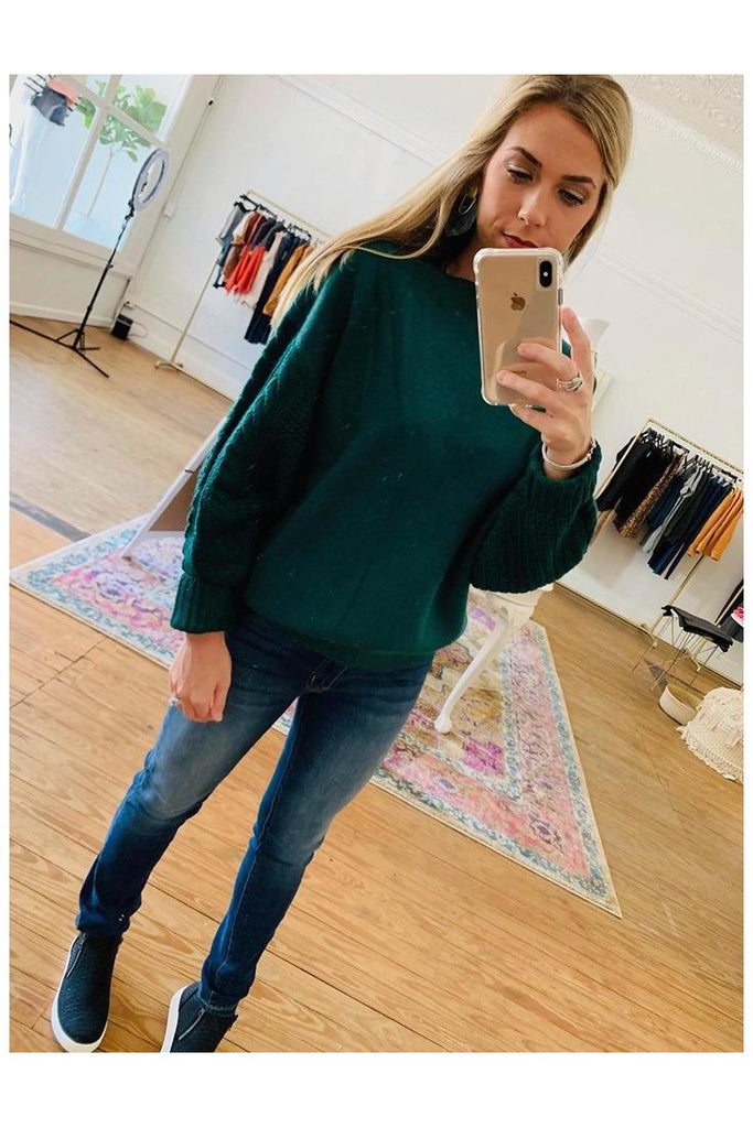 Hello Hunter Sweater Hunter Green
