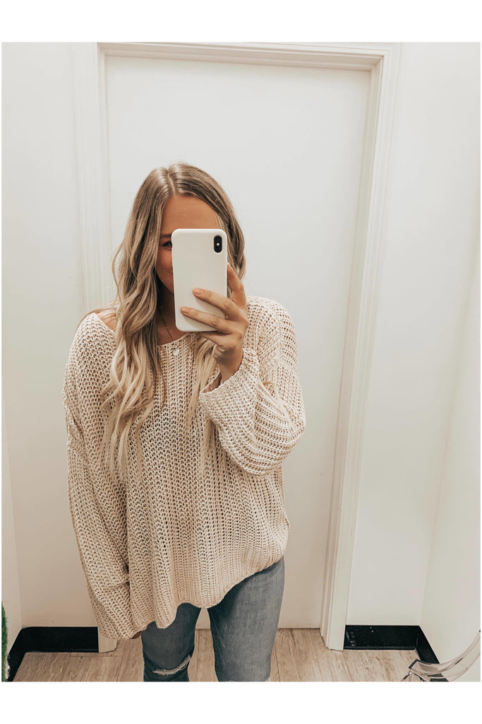 Luck Of The Draw Sweater Taupe