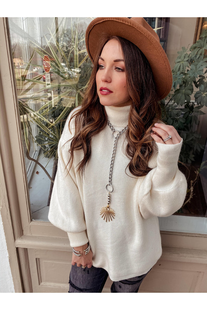 Keep Up Sweater Ivory