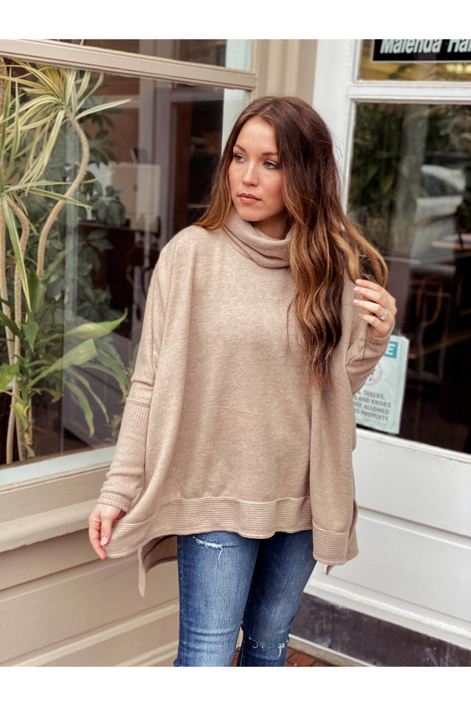 Waiting On You Tunic Taupe