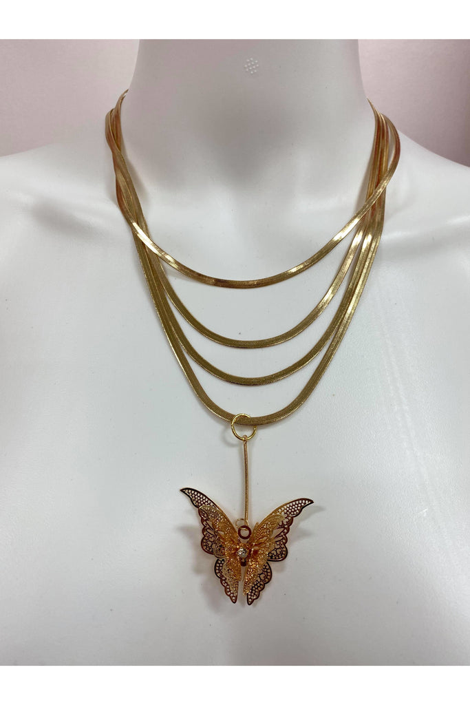 I AM Enough Butterfly Necklace By Janey Bee Jems