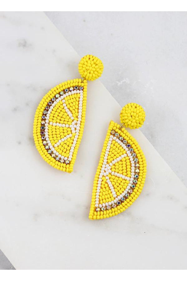 Fresh Lemonade Bead Earrings