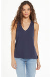 Sunset Slub Tank Midnight Navy