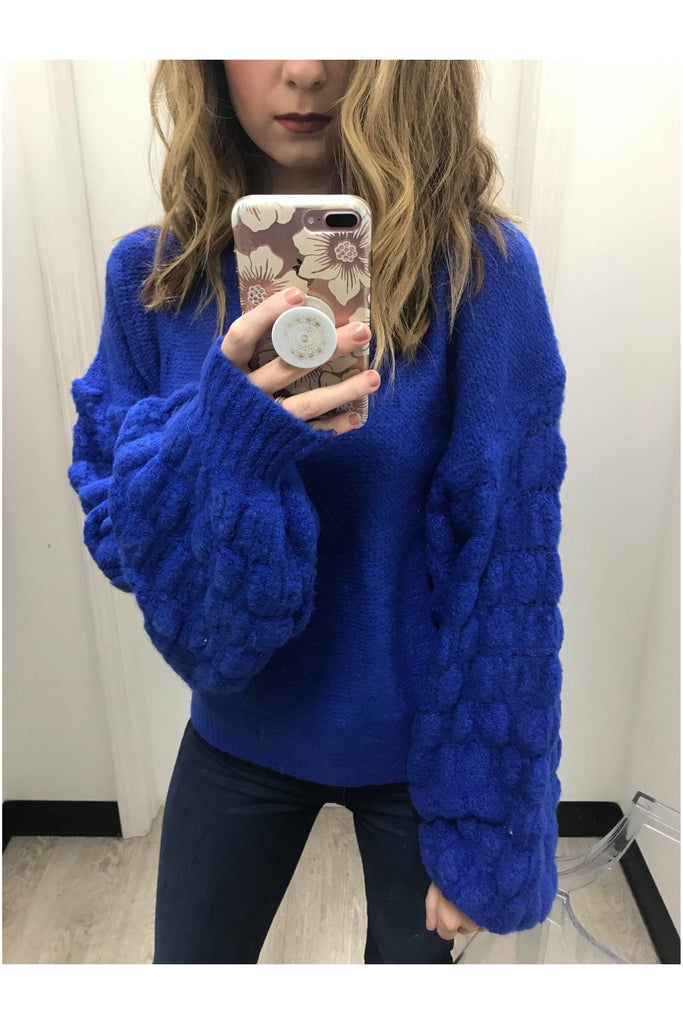 Funky Fun Sweater Cobalt Blue