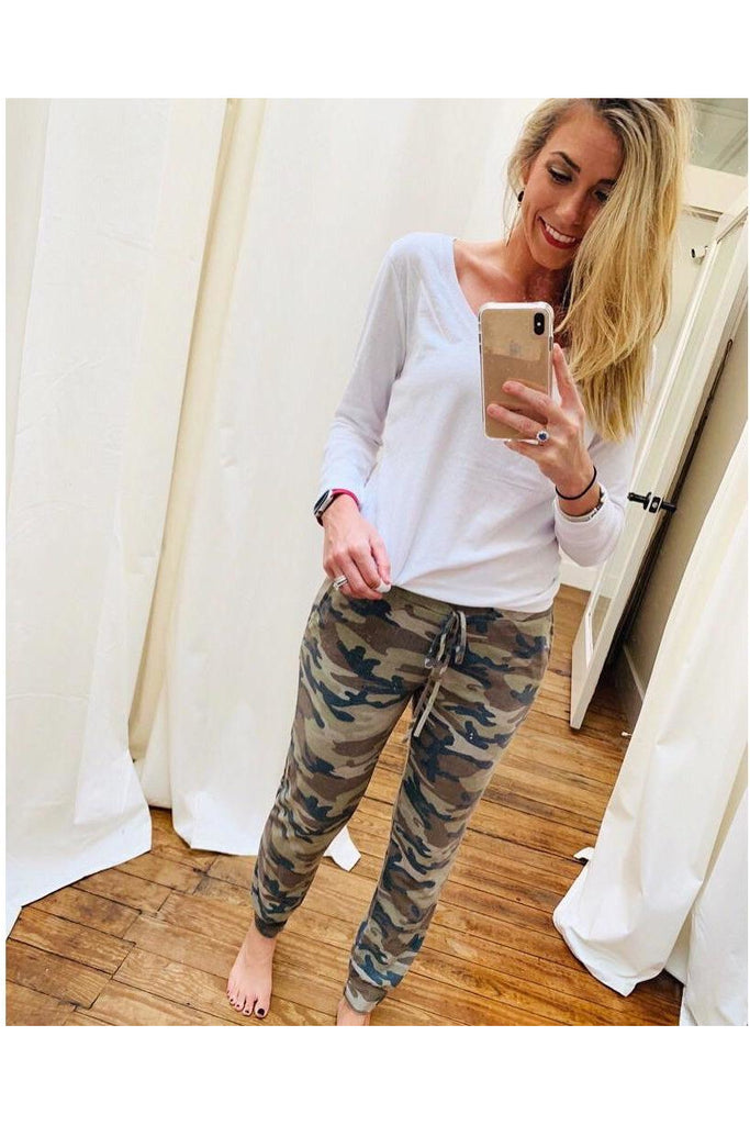 Cozy Nights Joggers Olive Camo