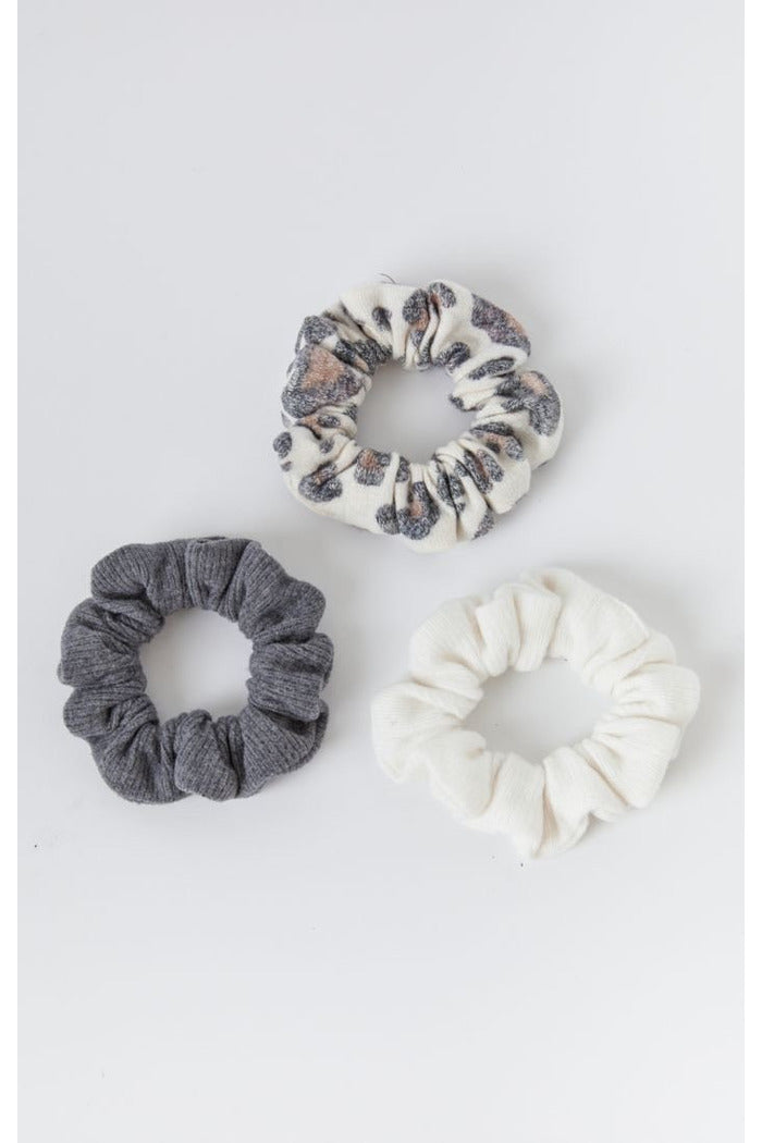 Z Supply Scrunchie Pack Leopard Bone