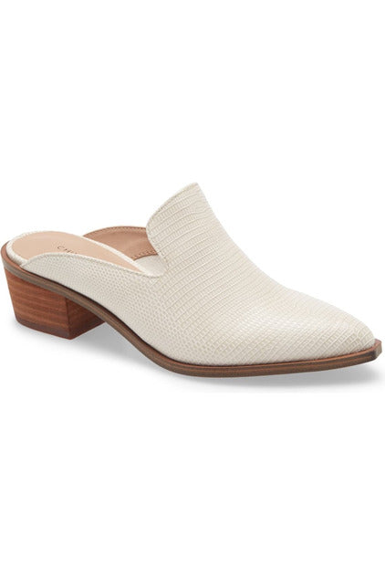 White Marnie Snake Mule by Chinese Laundry