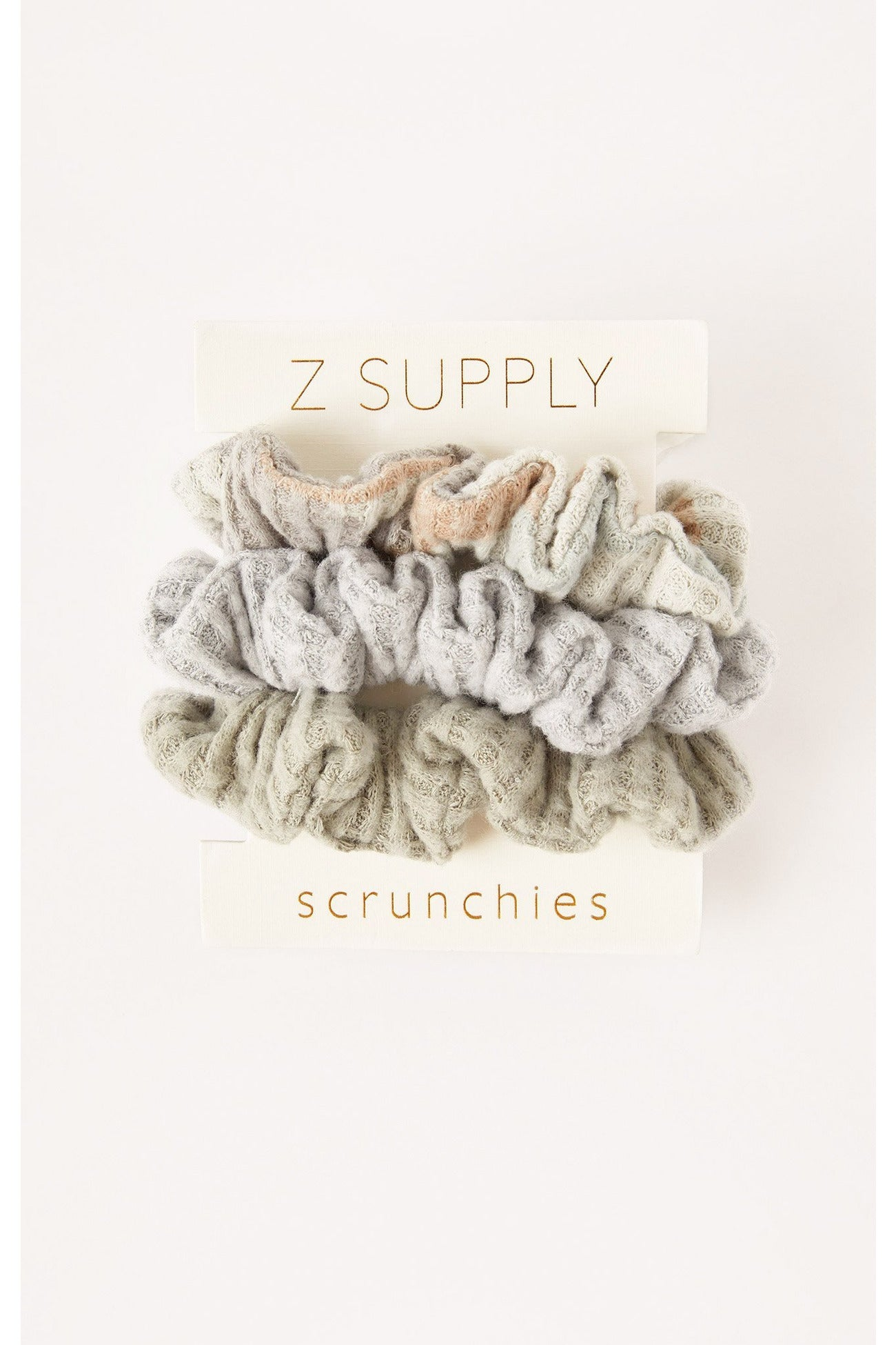 3 Pack Scrunchies Z Supply Camo Sage