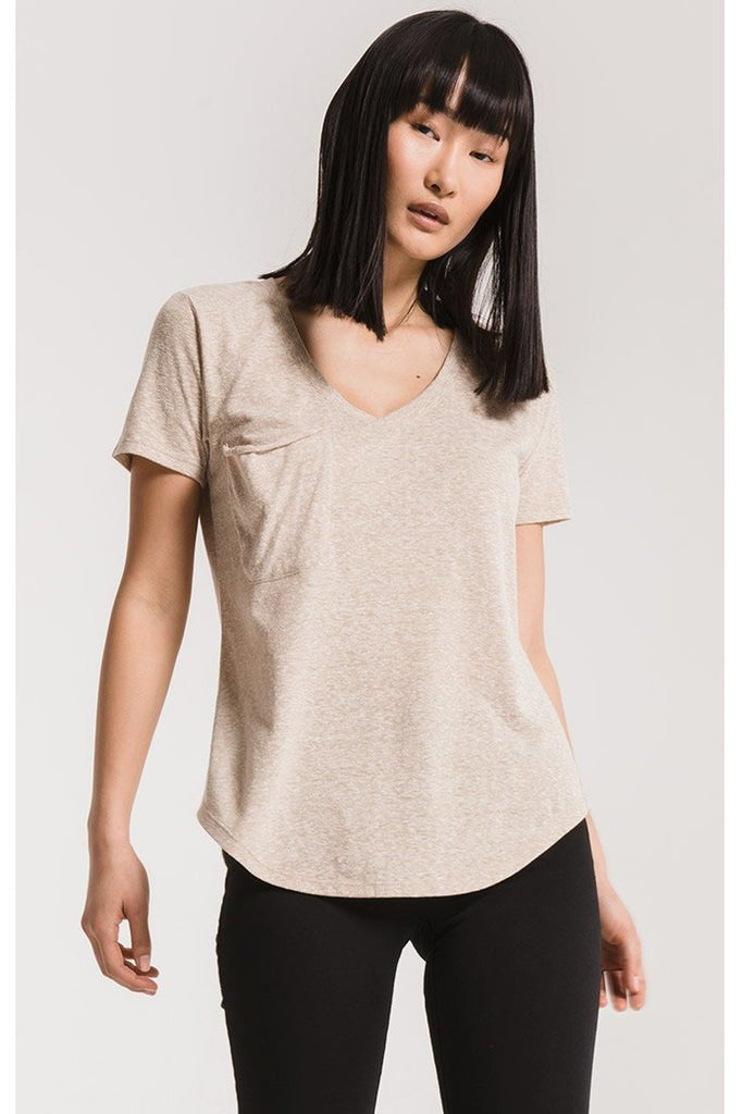 The Triblend Pocket Tee Simply Taupe