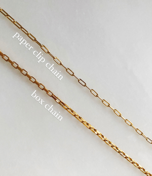 Gold Paperclip Chain