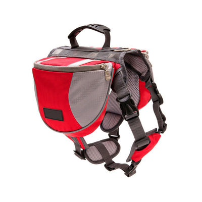 Pet Outdoor Backpack Large Dog Reflective Adjustable Saddle Bag Harness Carrier For Travel Hiking Camping Safety Puppy Harness