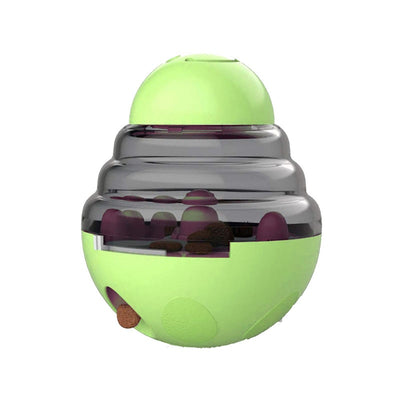 Interactive Dog Treat Ball Shaking Food Container Puppy Slow Feed Pet Tumbler Toy