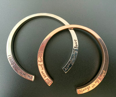Rose, Gold and Silver Stainless Steel Ashes Bracelets & Keychain Mini Urns To keep With you at All times