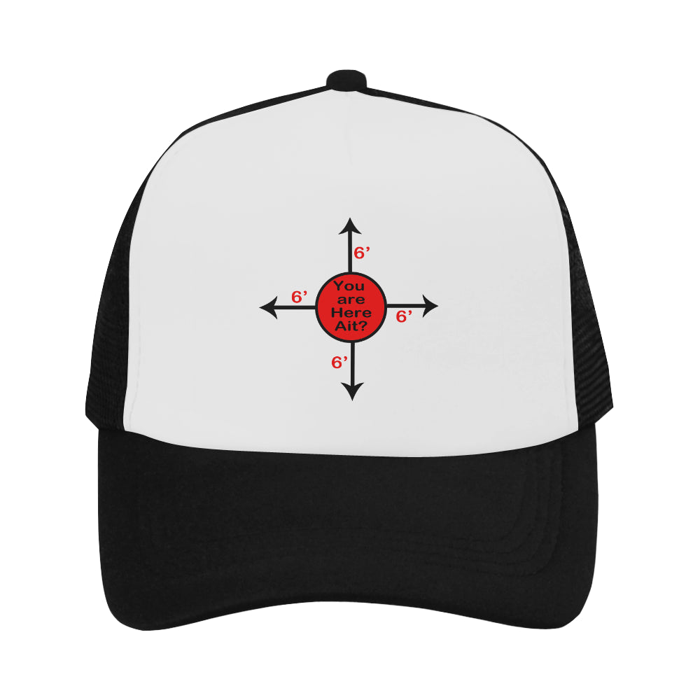 Social Distance Reminder Baseball Cap Trucker Hat