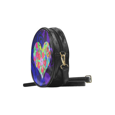 HeartFlower1 by MacAi & Co Round Sling Bag (Model 1647)