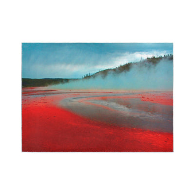 Yellowstone Hot Springs Area Rug7'x5'