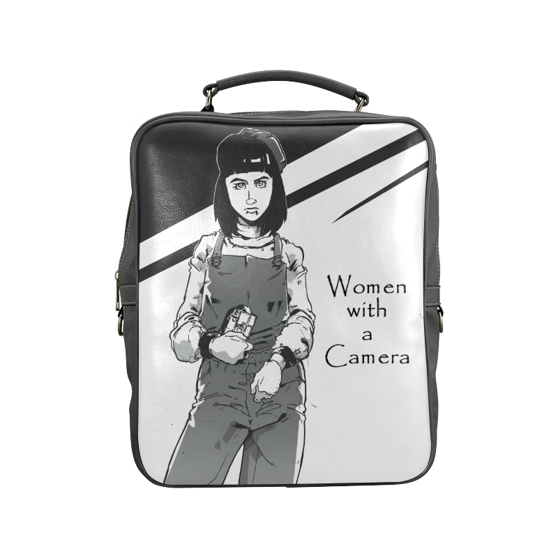 Woman with a Camera Square Backpack (Model 1618)