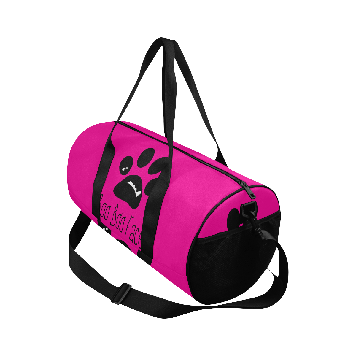 Large Gym Duffel Bag Paw design from BooBooFace Collection by MacAi & Co