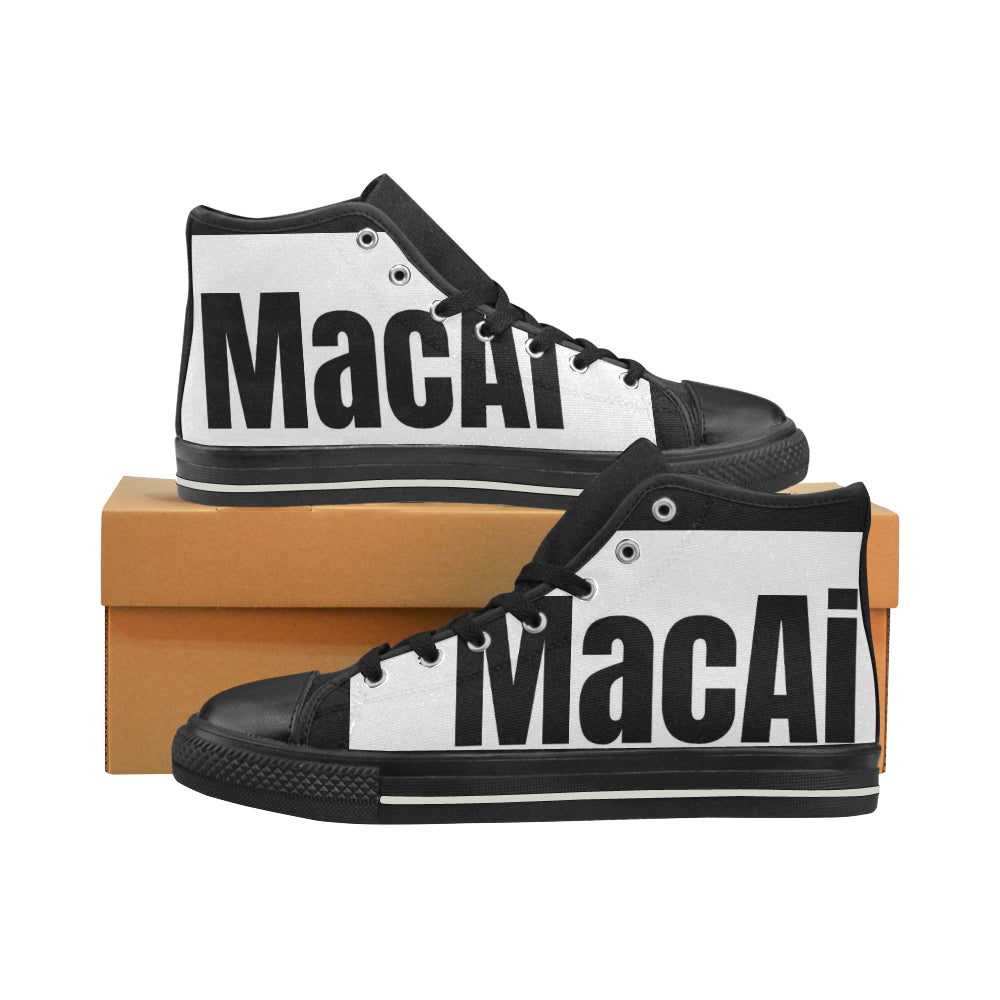 Designer Hightops Men's Classic High Top Canvas Vintage Style Shoes from MacAi