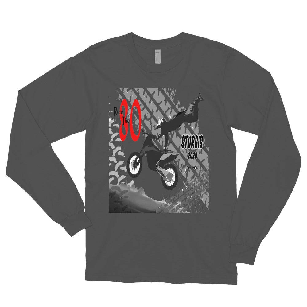 Long Sleeve T-shirt Sturgis Motorcycle Ride 80th Anniversary designed by MacAi & Co