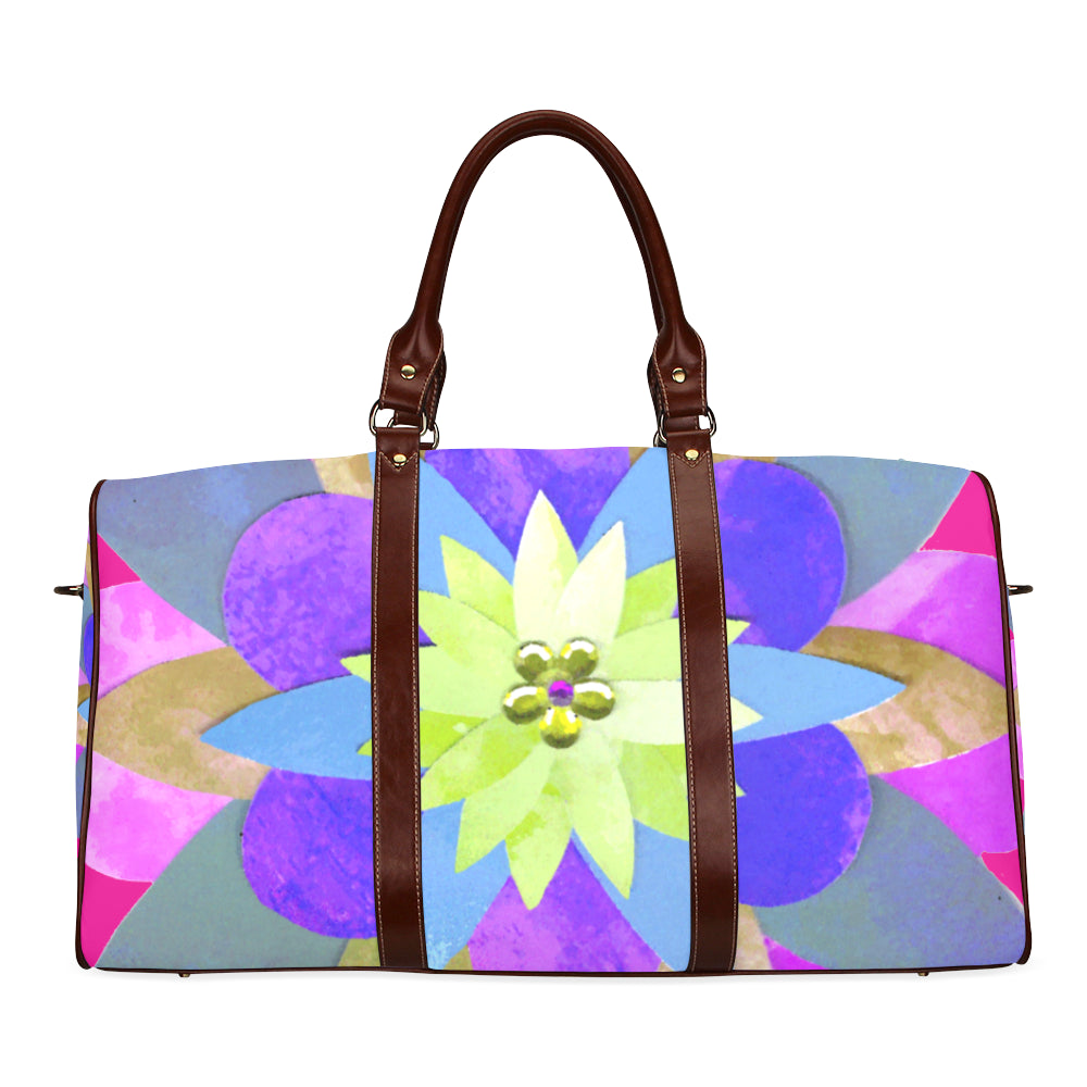 Large Carry All Travel Bag  Flowers Abstract from MacAi & Co for Travel Waterproof Fabric
