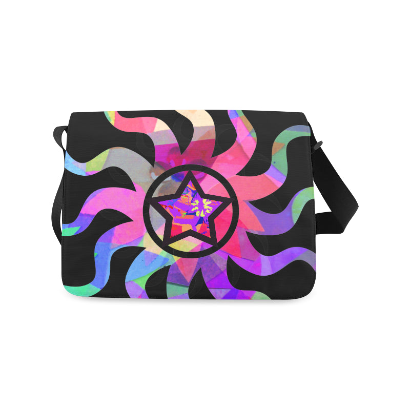 Purple Star Messenger Bag from MacAi & Co Unisex Outdoor and Daily Use
