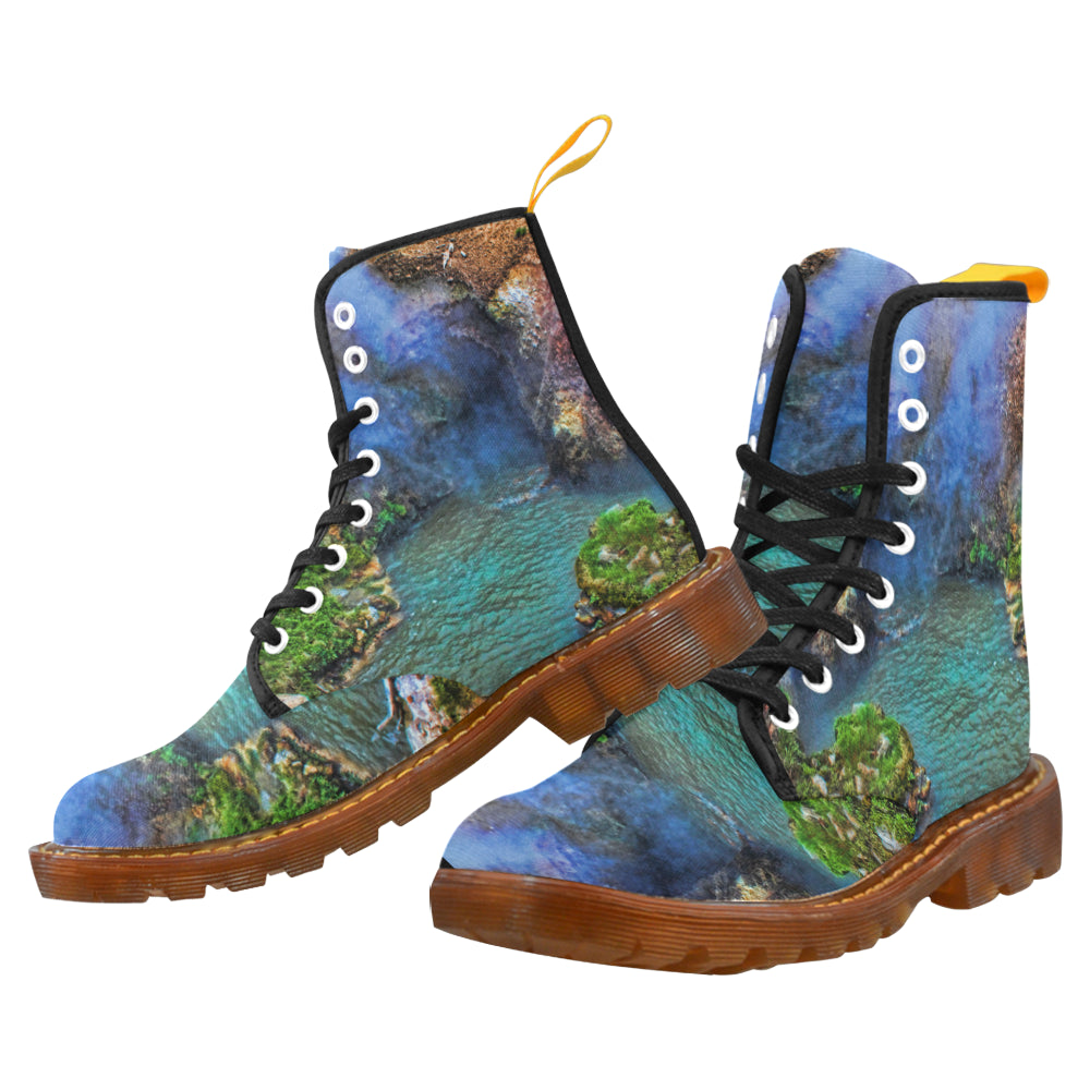 Outdoor Boots Abstract World I Custom Design  by MacAi Combat Biker Hiking Boots For Men
