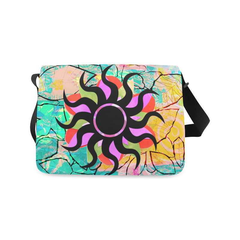Black Star Abstract Messenger Bag from MacAi & Co Unisex Daily Travel Use