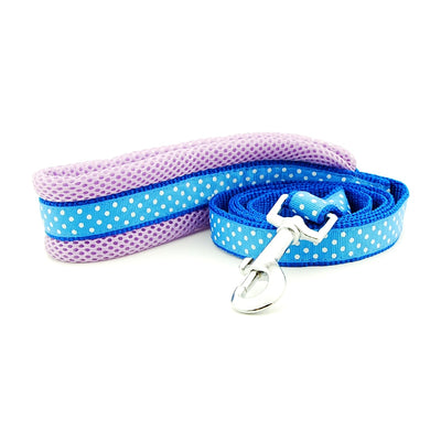 Dog Harness Vest Leash Polka Dot Breathable Mesh Adjustable Outdoor Walking Leash One Size Small Dogs