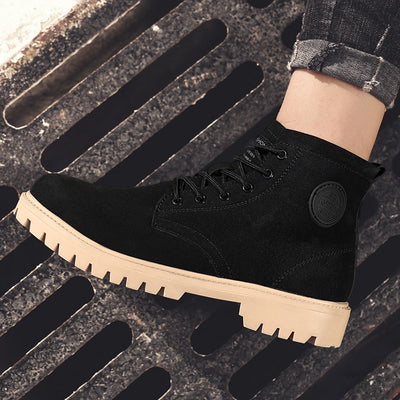 Working Safety Boots Round-Toe Waterproof Men's Casual Desert Boots Anti-Skid