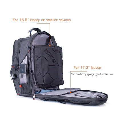"Multi-functional Waterproof Laptop Backpack for up to 17"" laptop USB Port Large Capacity"