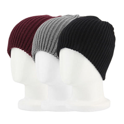Baggy Cap Men Women Warm Oversize Long Beanie Slouchy Knitted Hat Unisex