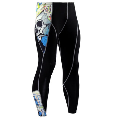 Mens Compression Pants Quick Dry Tights Fitness Pants Baselayer Running Leggings Yoga Rashguard Men