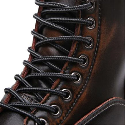 Outdoor Boots Men Women Unisex for Travel Outdoors Genuine Leather Motorcycle Camping Vintage Style