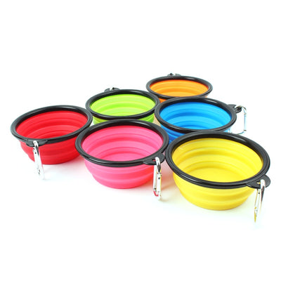 Travel Water Bowl Collapsible for Dog Portable Easy to Carry Food and Water Bowl