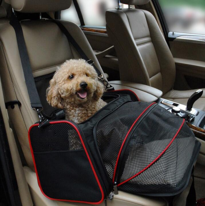 Expandable Pet Dog Carrier Car Travel Bag Oxford Breathable Carrier Airline Portable Backpack