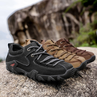 Men's Tactical Boots Genuine Leather Men Outdoor Shoes Breathable Sneaker Mountain Hiking Shoes Men Hunting Boots
