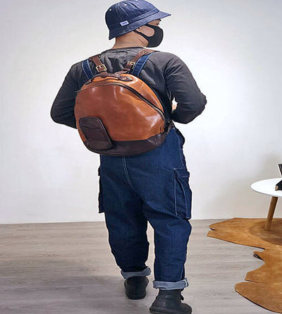 Handmade Leather  Vintage Casual Professional Backpack