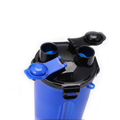 Portable 2 in 1 Pet Folding Water Bottle Food Container With Folding Silicone Pet Bowl Outdoor Travel Dog Cat Feeder Cup Bowl