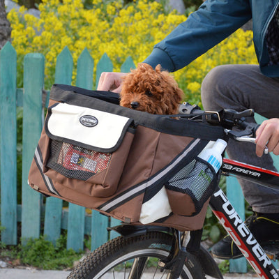 Puppy Bicycle Carrier Bag Puppy Dog Travel Bike Carrier Seat Travel Accessories For Small Dog